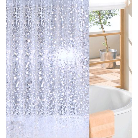 BGTOLLP More Mildew Shower Curtain Liner PVC Semi Transparent Bath Stall Used As Stand Alone Or Liner47x70inches
