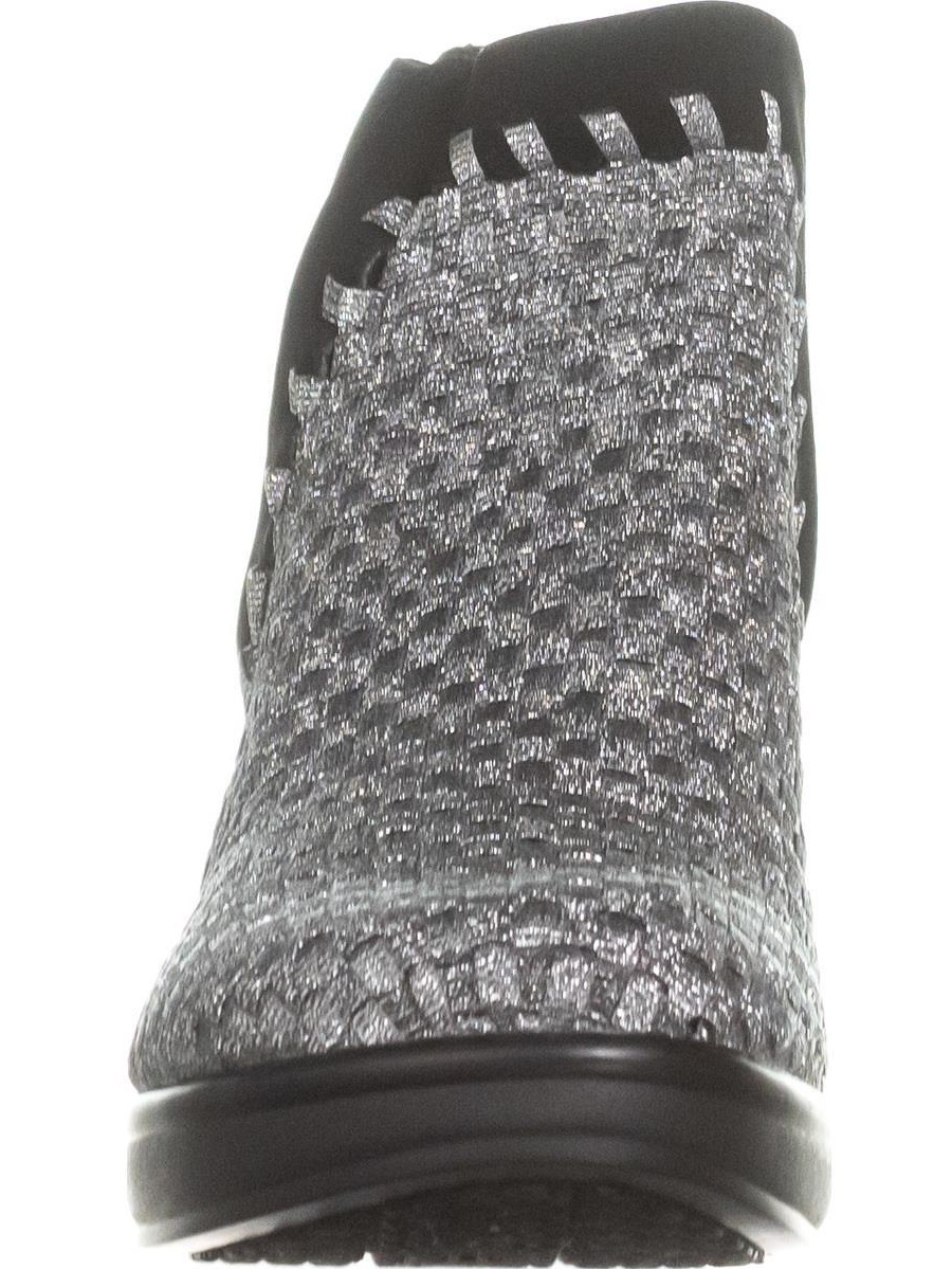 4fa77e9aa0a Womens STEVEN Steve Madden Excit Comfort Ankle Boots, Pewter Multi