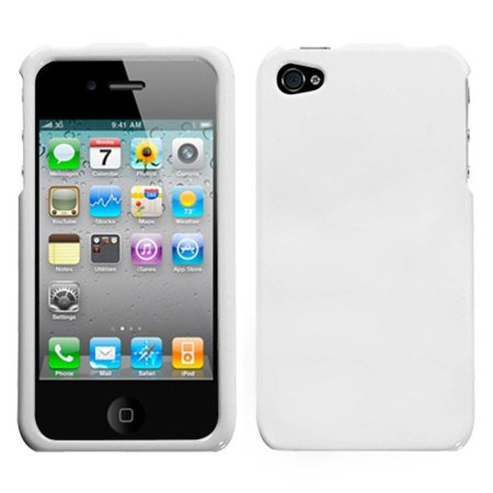 iPhone 4s case by Insten Solid Ivory White Case For iPhone 4 4S 4s White Hard Case