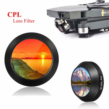 99.5% VLT Utral-thin spare parts HD Glass Lens Filter Cap Cover CPLCircular Polarizer for DJI Mavic PRO RC Drone Camera Spare (Glasses Spare Parts)