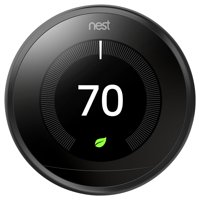 Google Nest Learning Thermostat- 3rd Generation- Mirror Black