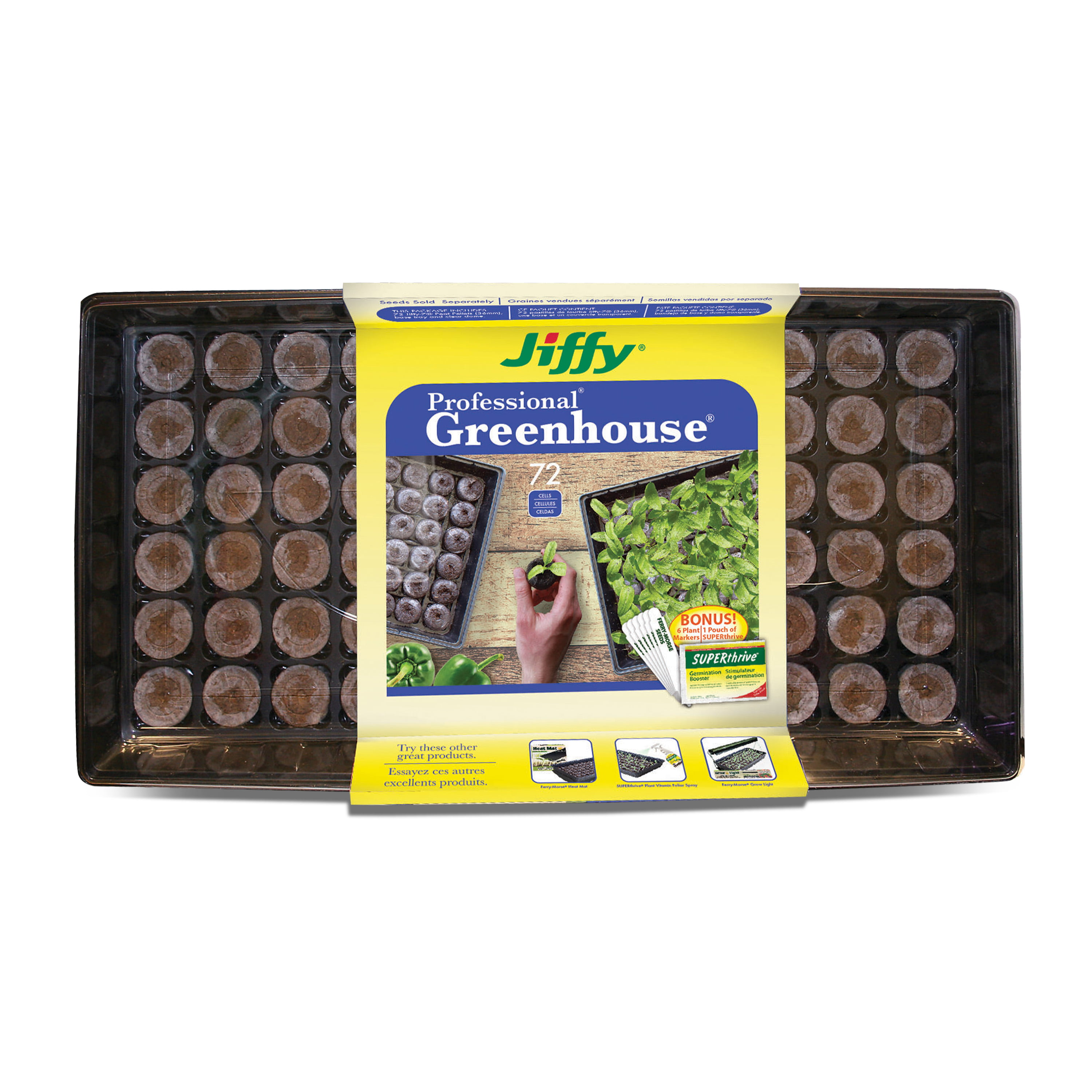Jiffy Diskettes Peat Sprouting Seeds Seeds 100 pcs