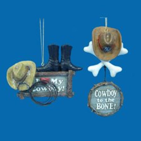 """5.25"""" Wild West """"Cowboy to the BONE!"""" Country Christmas Ornament"""
