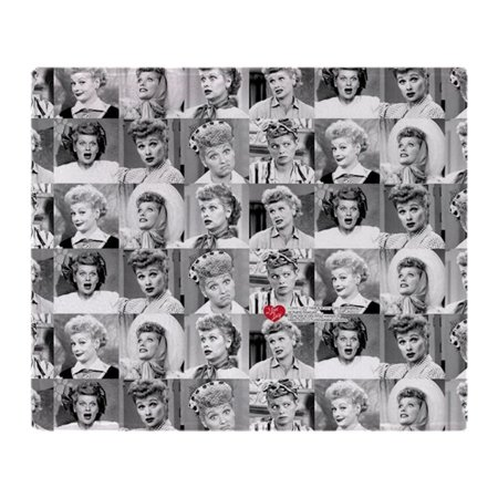 CafePress - I Love Lucy Face Collage - Soft Fleece Throw Blanket, 50
