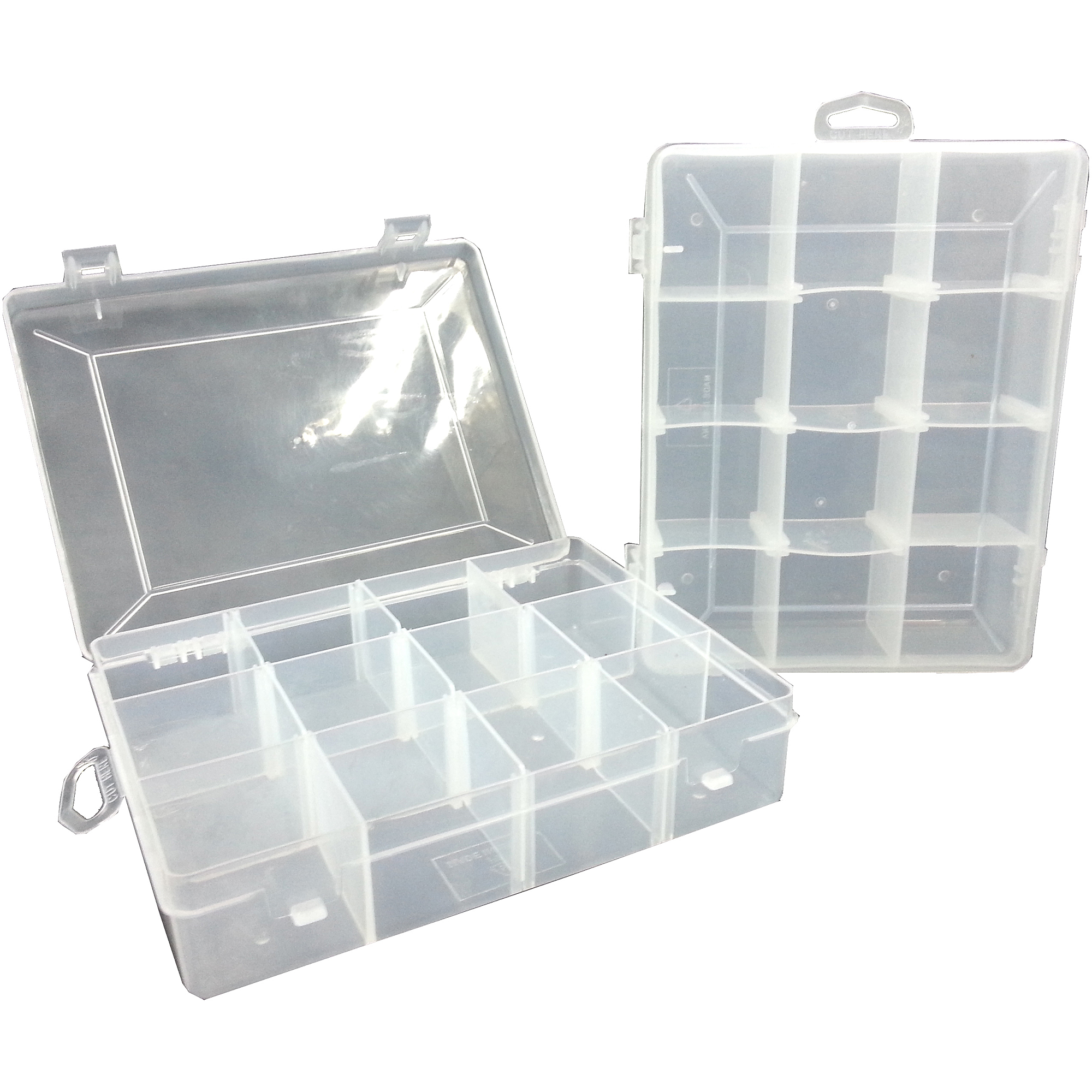 Utility Fishing Tackle Box, Small, 2-Pack