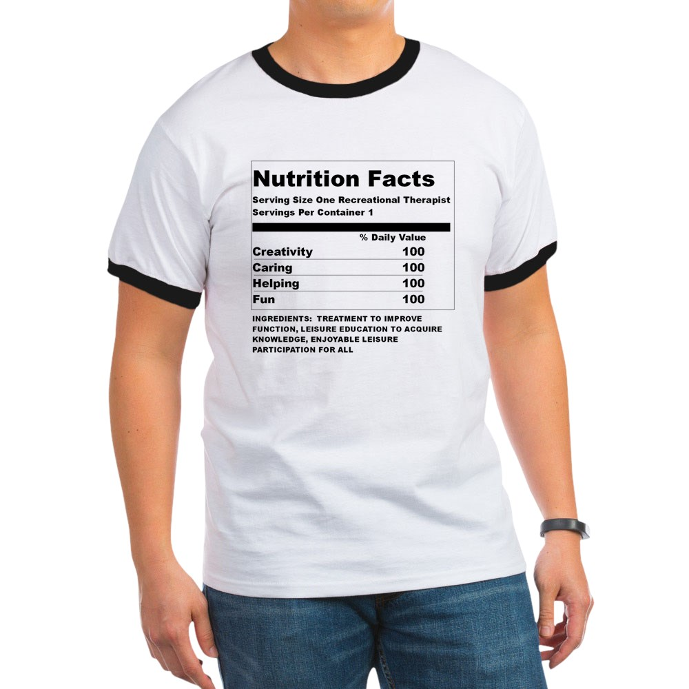 CafePress - Recreation Therapy Nutrition - 100% Cotton Ringed T-Shirt