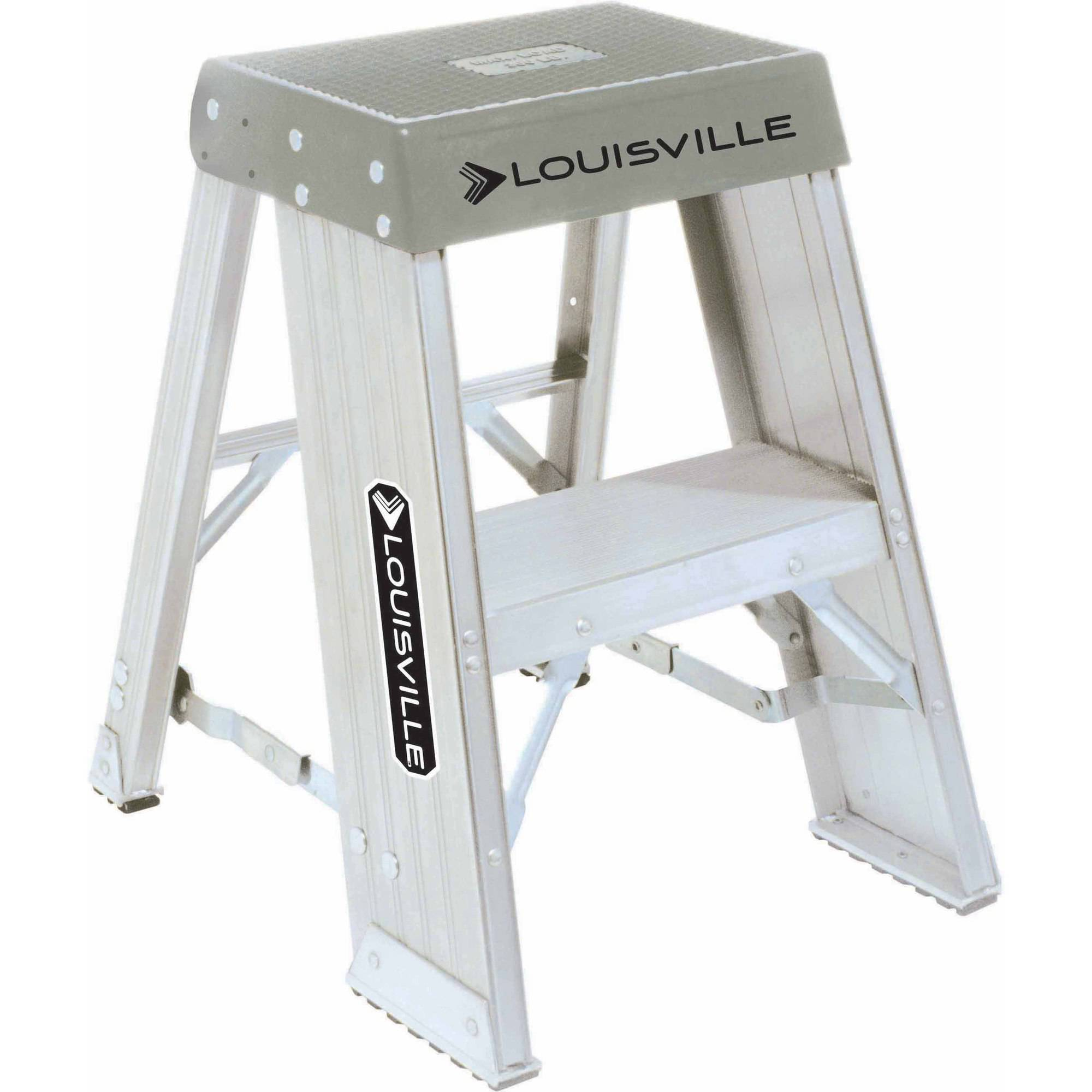 Louisville Ladder AY8002 2 ft. Aluminum Step Stool, Type IA, 300 Lbs Load Capacity