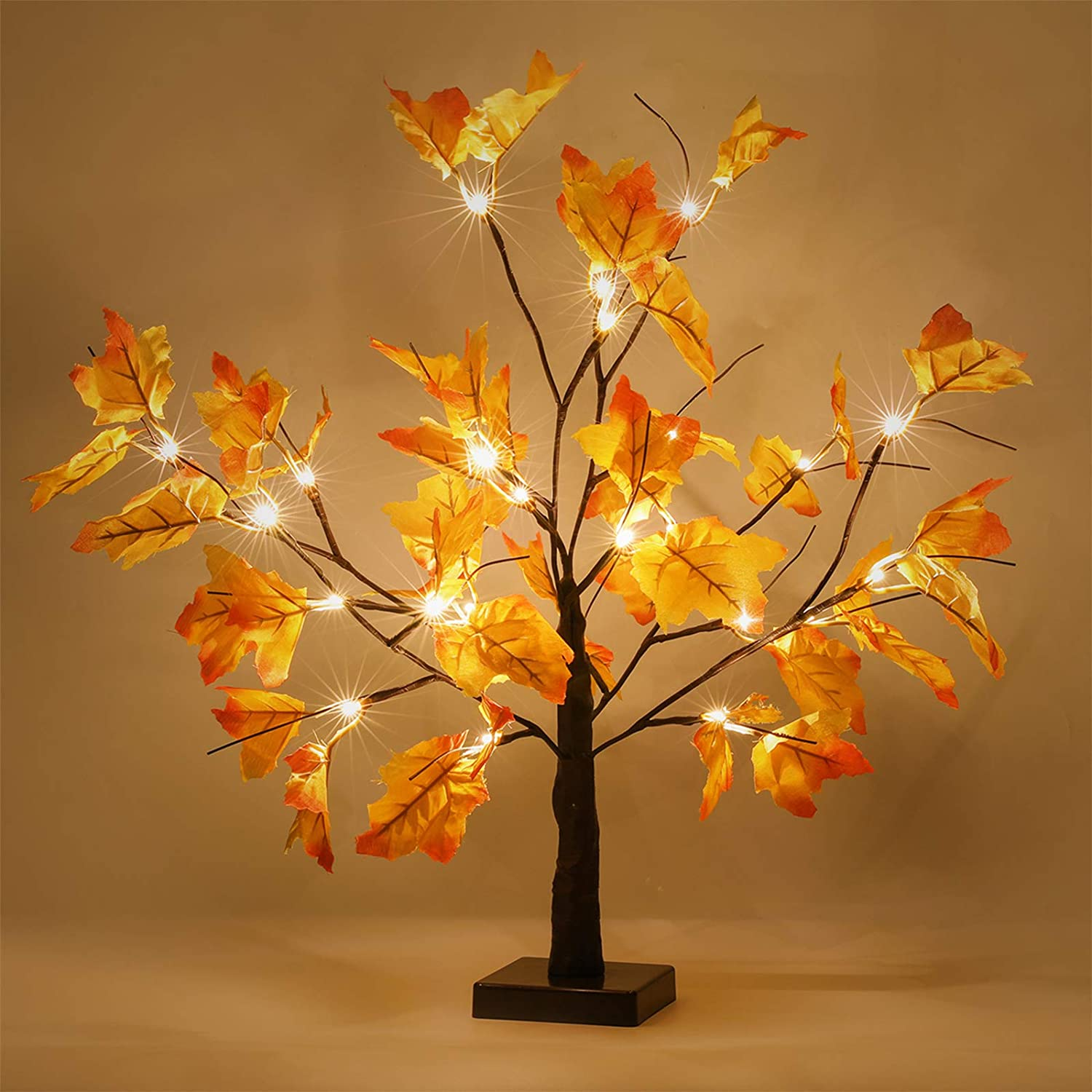 2 Pack Thanksgiving Decorations Table Lights Thanksgiving Maple Leaves Autumn Tree Decoration 24 24 Led Thanksgiving Gift Battery Powered Fall Decor For Home Indoor Fall Decorations Walmart Com Walmart Com
