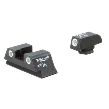 Glock Green Rear Sight - Trijicon GL13-C-600777 Bright & Tough Night Sight Set Green Front/Rear Lamps For Glock 42/43 - 600777