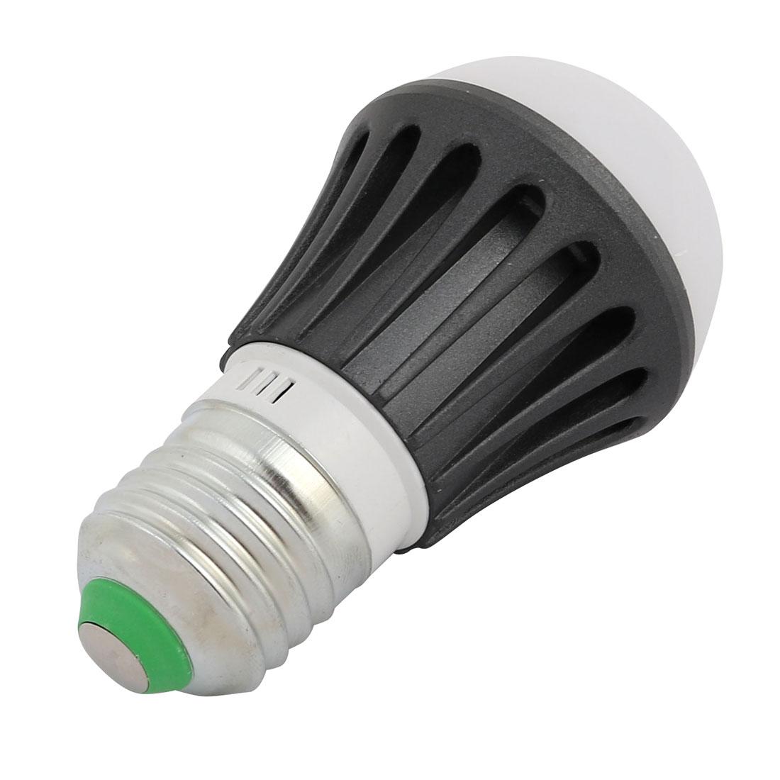4 Pcs 3W Aluminum Alloy Black Ball - Bulb Lamp Housing E27 Base w White Cover - image 2 of 4