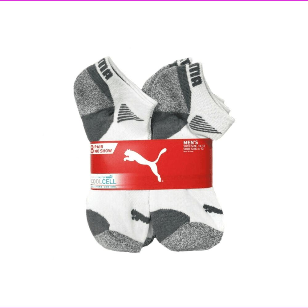 PUMA - Puma Men's (Size 6-12) Dry Cell Moisture Wicking 8 Pair No Show White Socks - Walmart.com