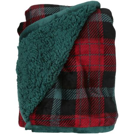 Better Homes And Gardens Holiday Velvet Plush Reverse To Sherpa Throw Blanket Walmart