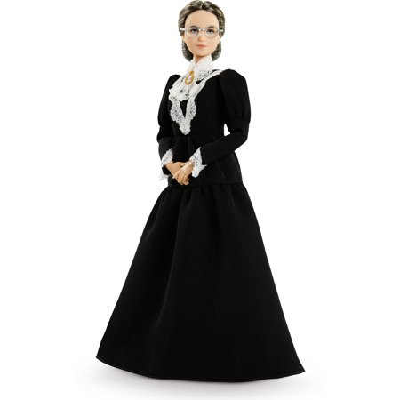 Barbie Inspiring Women Susan B. Anthony Collectible Doll, 12-inch in Black Dress
