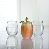 Luminarc 15 oz. Cachet Clear Stemless Wine Glass 12 PC Set
