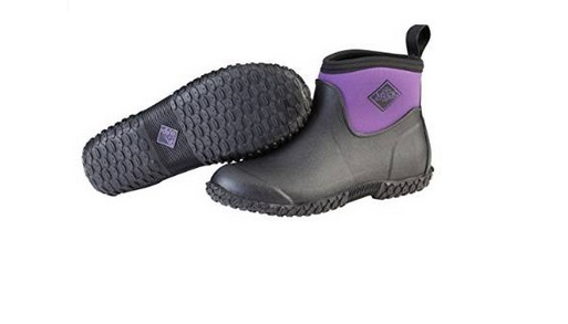 Muck Boot Women's Ankle Muckster II Breathable Rubber Ankle Women's Boots Black Purple W5 US 899692