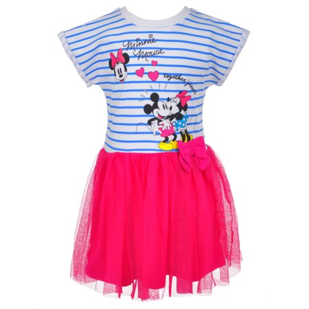 Disney Minnie Mouse Girls' Dress (Minnie Mouse Fancy Dress For Adults)