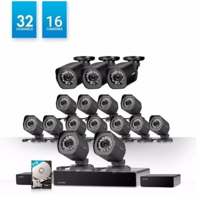 Zmodo BS-1016-B-2TB 1.0 MP 32 Channel Network NVR 16 HD Security Camera System