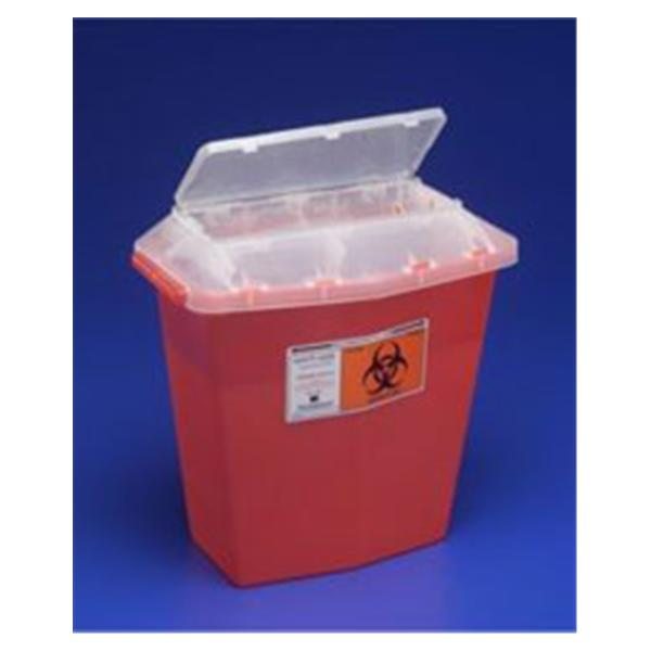 WP000-PT 31144010 31144010 Container Sharps-A-Gator Translucent Red 5qt Ea Kendall Company