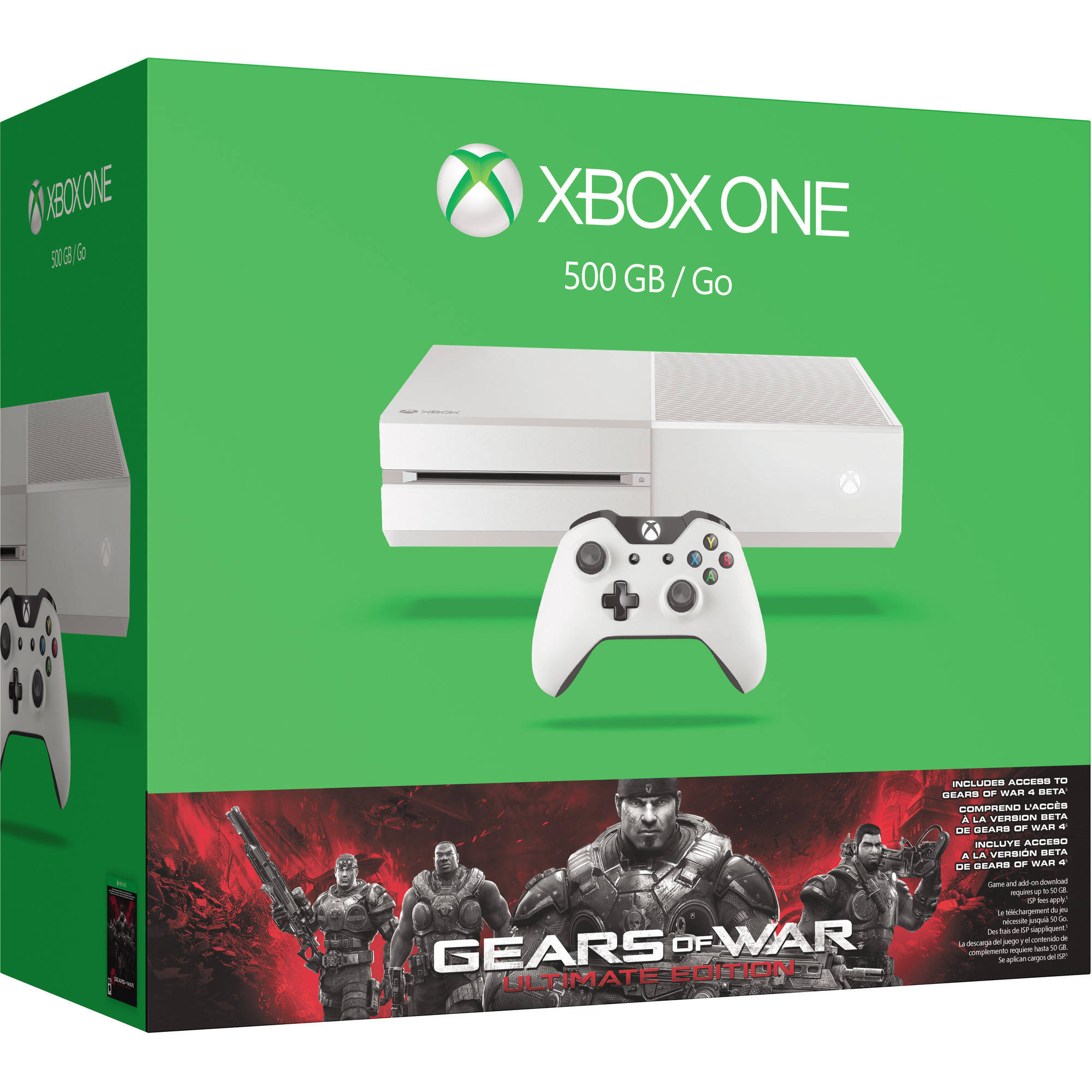 Xbox One White 500GB Gears of War Special Edition Console