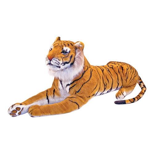 "Melissa & Doug Tiger Giant Stuffed Animal (Wildlife, Soft Fabric, Beautiful Tiger Markings, 67"" H x 20"" W x 14"" L)"