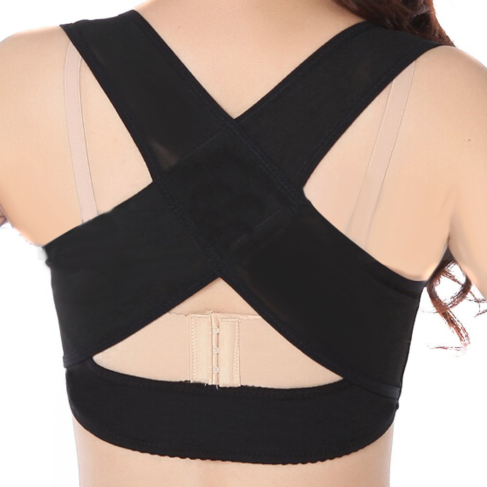 Elastic Adults Posture Corrector Band Posture for Female Chest Breast Support Back Posture Correction Adjustable Breast Shape X Type Pattern