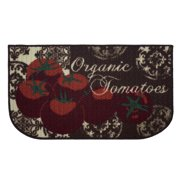 Structures Tomatoes Printed Textured Loop Kitchen Accent Rug