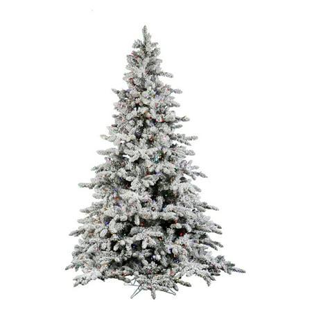 vickerman 10 ft flocked utica fir pre lit italian led christmas tree