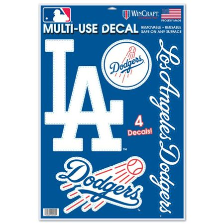 f6113e04e73 Los Angeles Dodgers Official MLB 11 inch x 17 inch Static Cling Window Car  Decal by Wincraft - Walmart.com