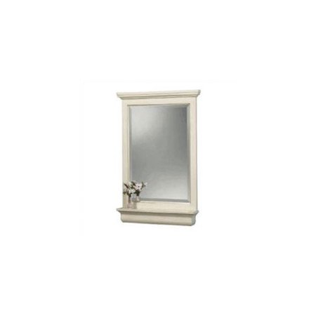 Cottage 32 in. L x 23 in. W Wall Mirror in Antique White