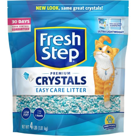 Fresh Step Crystals, Premium Cat Litter, Scented, 4 Pounds ()