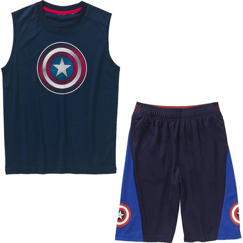 Marvel Captain America Boys' Activewear Mix and Match Outfit Value Bundle