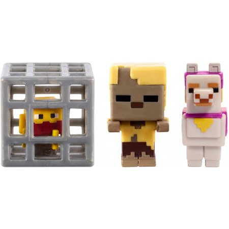 Minecraft Build-A-Mini 3-Pack Pack Zombie Husk, Llama, Spawning - Minecraft Halloween Quick Build