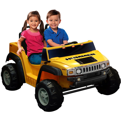 Kid Motorz Two-Seater Hummer H2 Boys' 12-Volt Battery-Powered Ride-On, Yellow