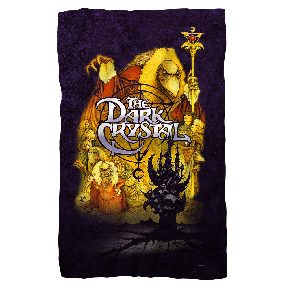 Dark Crystal 1980's Animated Family Fantasy Movie Poster Fleece Blanket
