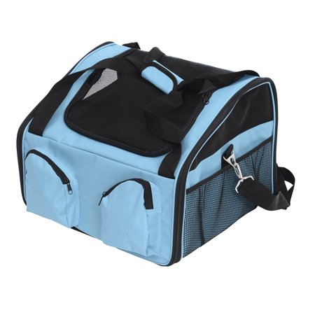 Pawhut 16Â Pet Travel Carrier for Cats & Dogs - Blue
