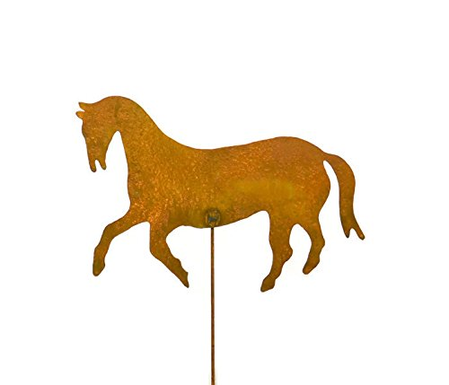 Oregardenworks Outdoor Garden Decor, Rusty Metal Yard Art, Horse Garden  Stake
