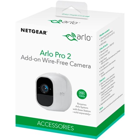 Arlo Pro 2 1080P HD Add-on Security Camera VMS4030P - 1 Wire-Free Rechargeable Battery Camera with Two-Way Audio, Indoor/Outdoor, Night Vision, Motion Detection (No Base Station