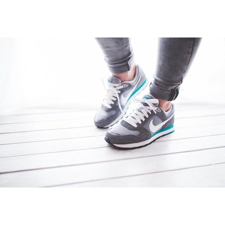 Canvas Print Canvas Print Girl Sport Jogging Grey Woman Runner Shoes Nike Stretched Canvas 10 x 14 ()