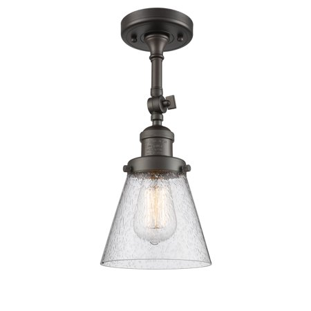 Oil Rubbed Bronze Pier Mount (Innovations 1-LT LED Small Cone 6