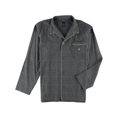Ralph Lauren Mens Plaid Button Down Pajama Shirt