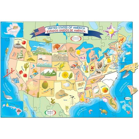 USA MAP PUZZLE - Walmart.com