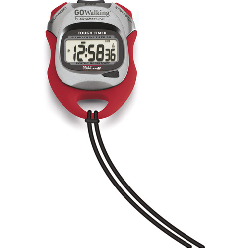 Sportline Elite Tough Timer Stopwatch, Red/Gray