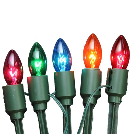 Set Of 15 Lighted Multi Color C9 Christmas Pathway Marker