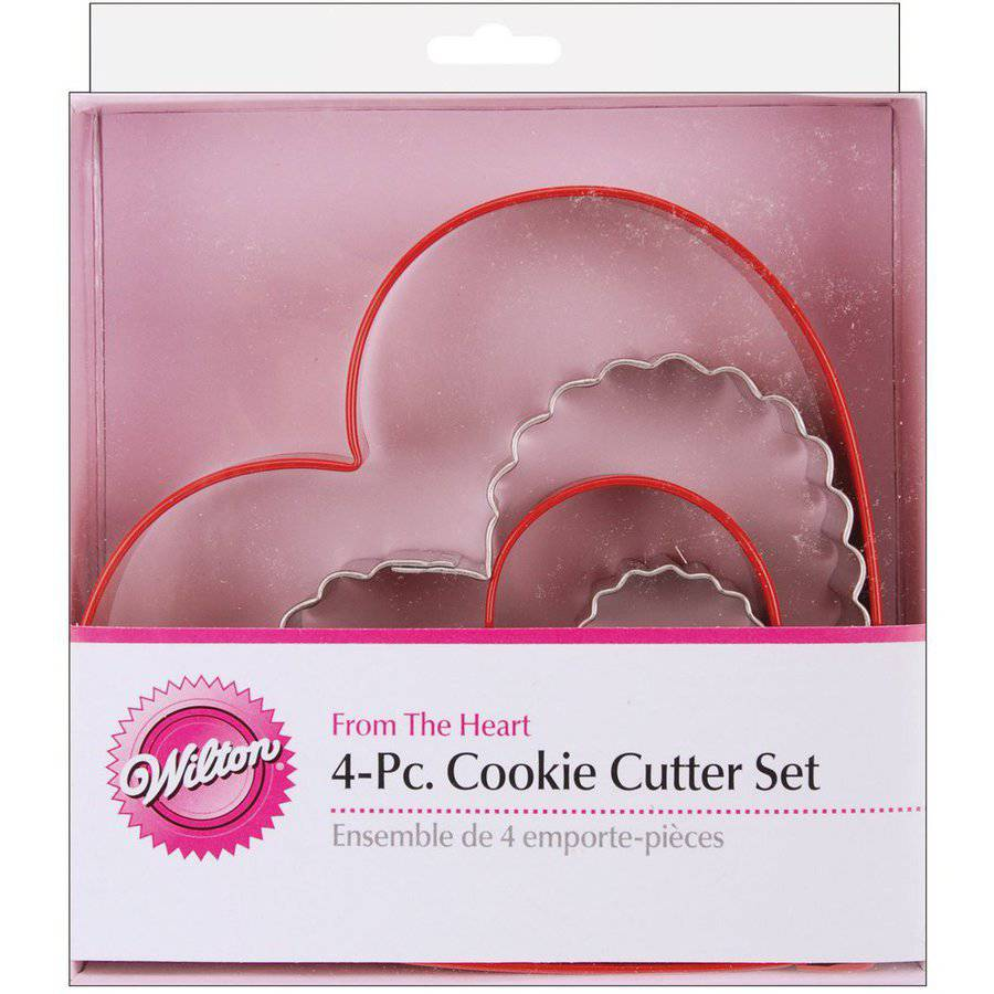 Wilton Nesting Metal Cookie Cutter Set, From the Heart 4 ct. 2308-1203