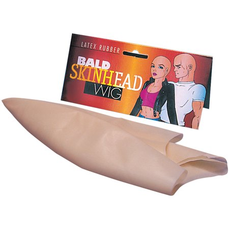 Star Power Super Smooth Bald Head Wig Cap, Natural, One Size](Balding Wig Halloween)
