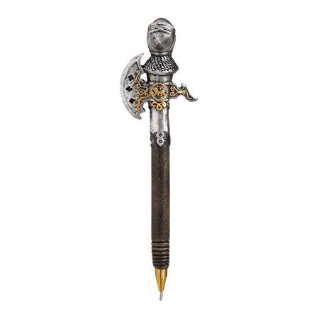 Decorative Gothic Knights Axe Armour Pen Desktop Accessory - Decorative Pens