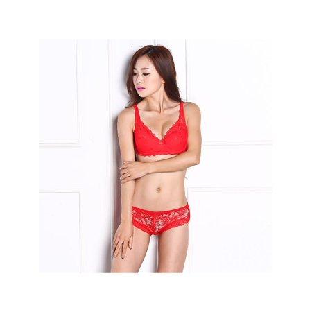 Lavaport Sexy Gather Push Up Bra Underwear 5/8 Cup Lace Brassiere Underwear 32/34/36/38/40B