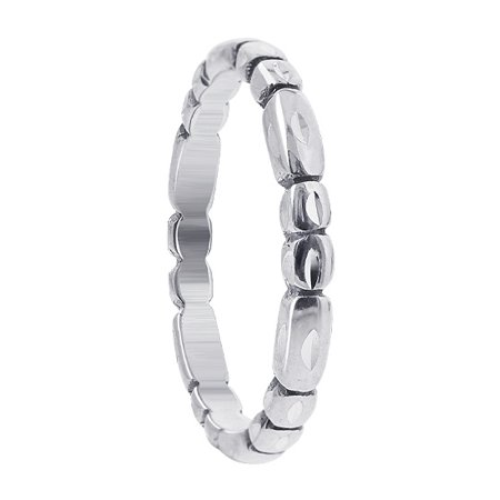 Gem Avenue 925 Sterling Silver Faceted Cut Band 2mm ()