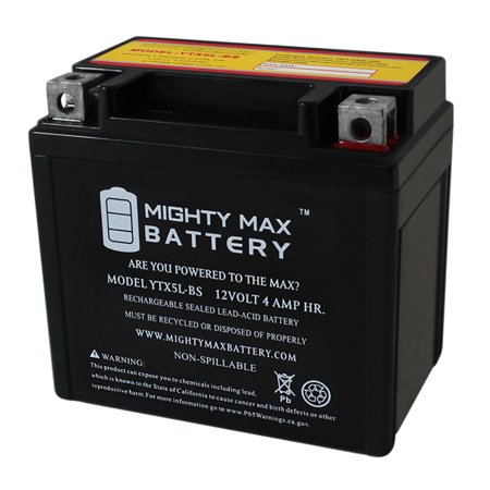 ytx5l-bs replacement for suzuki lt80 quadsport 80 atv battery - walmart com