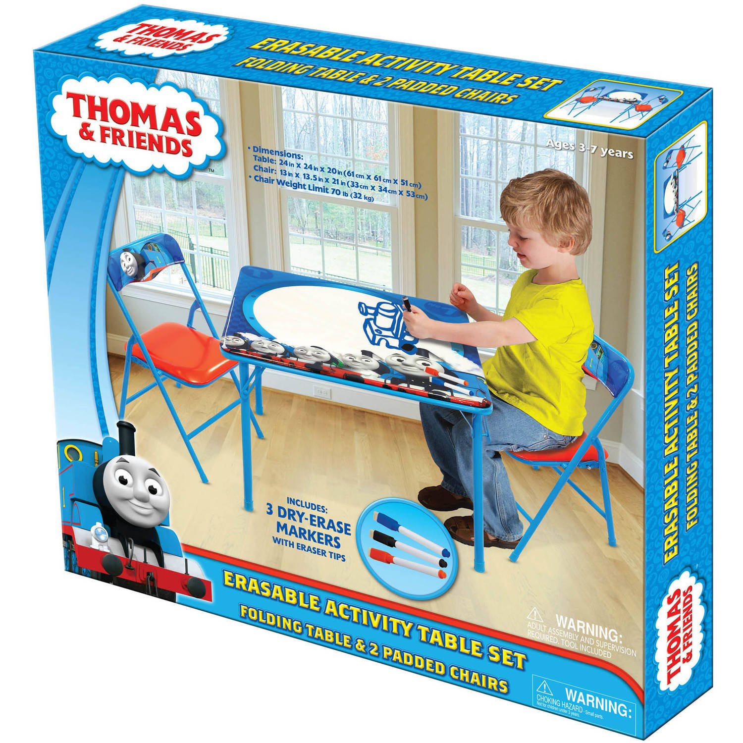 Thomas And Friends Erasable Activity Table Set With 3 Markers